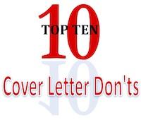 Ten Cover Letter Don'ts