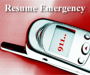 Resume writing emergency